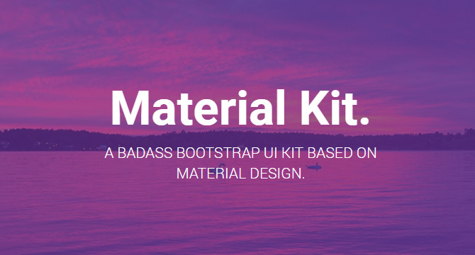 Kit De Interfaz Bootstrap En Material Design