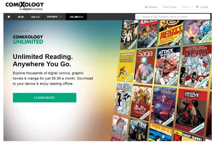 """Comixology Unlimited, el """"Netflix"""" de los cómics digitales"""