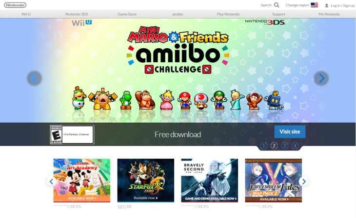 Imagen: Sitio web internacional de Nintendo
