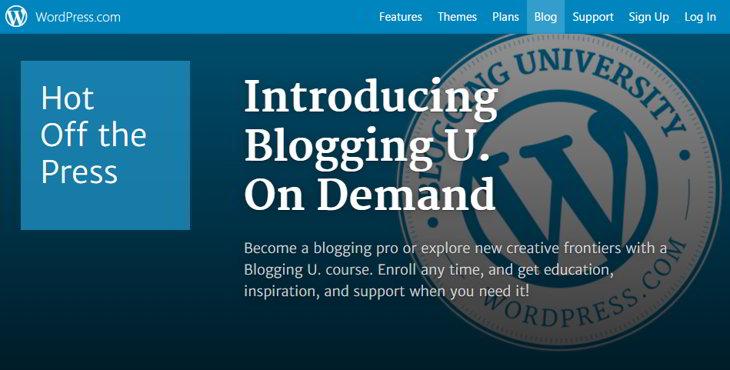 Nuevos cursos online de WordPress para aprender sobre Blogging en cualquier momento