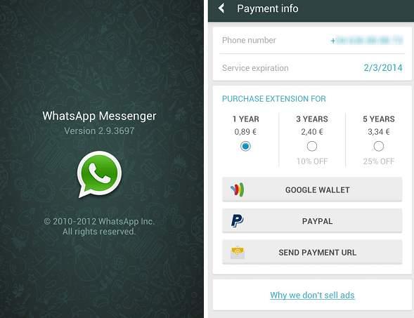 El sistema de pagos que Whatsapp tuvo en su momento