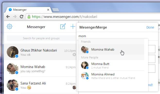 varios messenger facebook