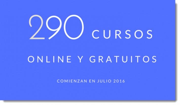 290 cursos universitarios, online y gratuitos que inician en julio