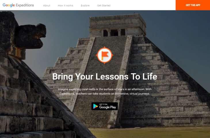 Imagen: sitio web oficial de la aplicación Google Expeditions