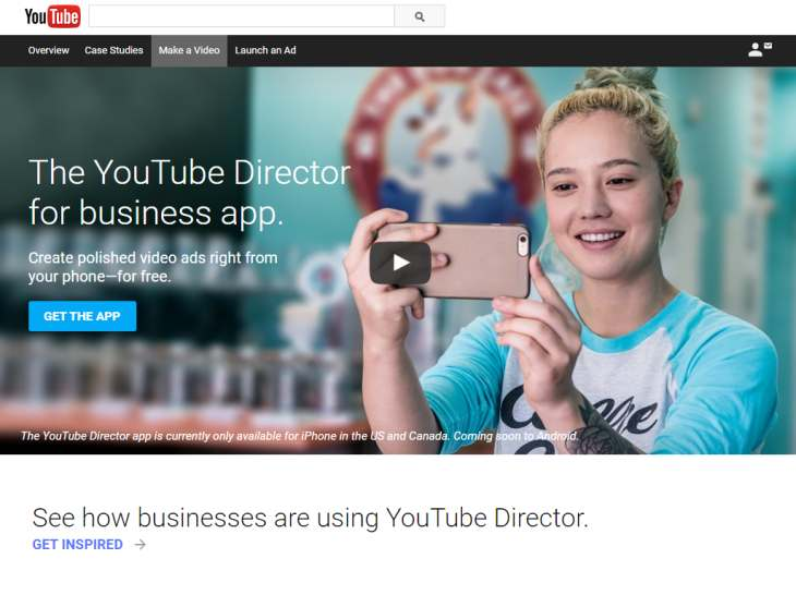 YouTubeDirectorforBusiness