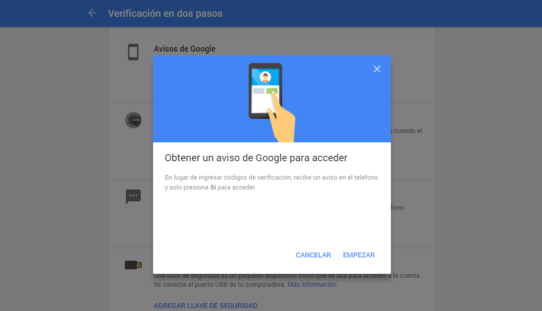 verificacion google movil