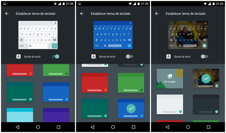 fondos colores teclado de google