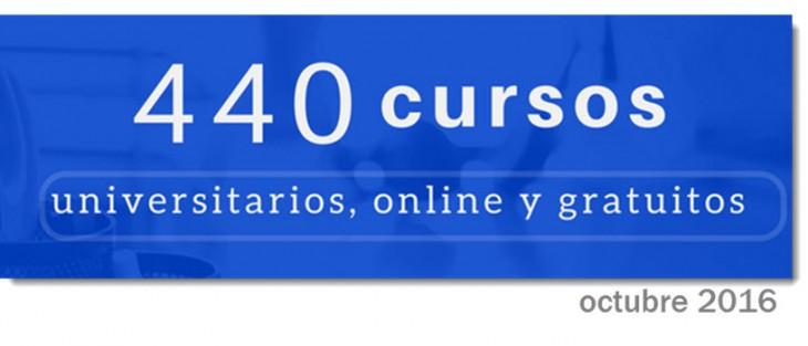 440 cursos universitarios, online y gratuitos que comienzan en octubre