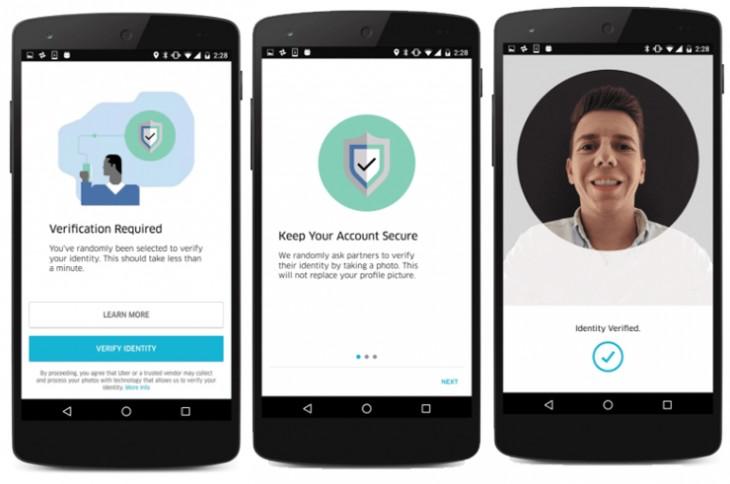 Selfies, nueva medida de seguridad en Uber