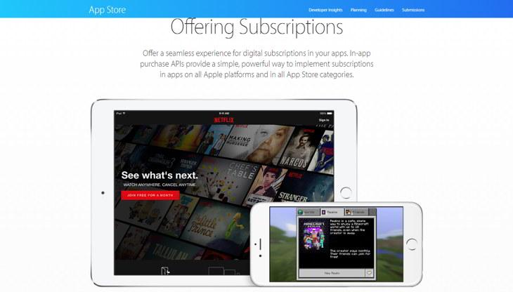 app store suscripciones