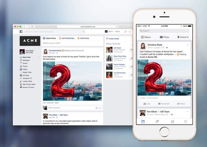 Facebook prepara su plataforma para empresas: Facebook at Work