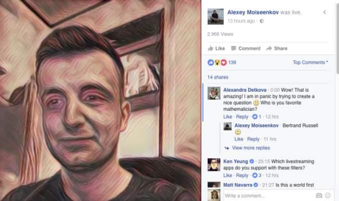 Prisma en Facebook