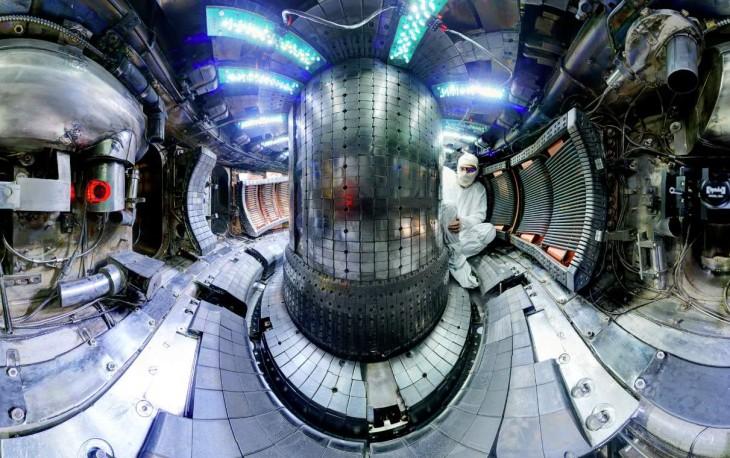 Reactor usado en el MIT. Foto: Bob Mumgaard/Plasma Science and Fusion Center/MIT