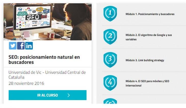 Nuevo curso online y gratuito sobre fundamentos de SEO