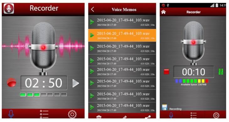 Imagen: Capturas oficiales de la app Grabadora de Voz