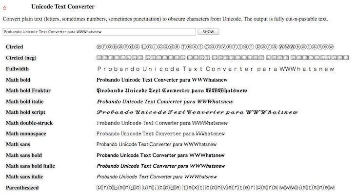 unicode-text-converter