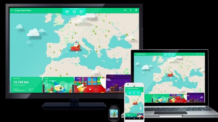 Ya podemos seguir a Papá Noel en directo desde Santa Tracker, de Google