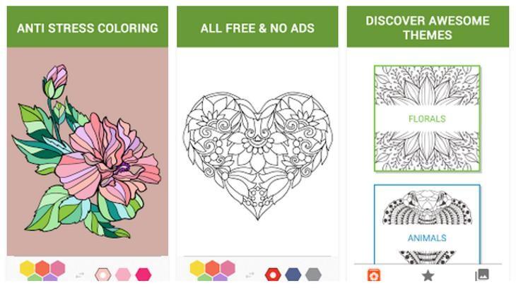 Imagen: Capturas de Libro de colorear para adultos