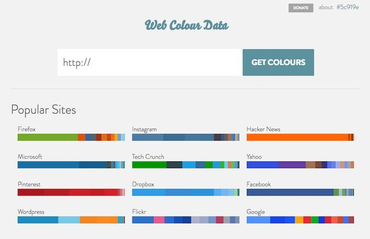 Web Colour Data