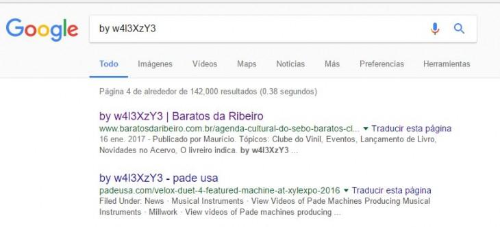 Búsqueda de Google devuelve sitios atacados