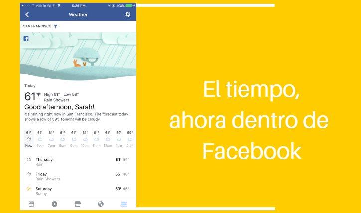 tiempo en facebook