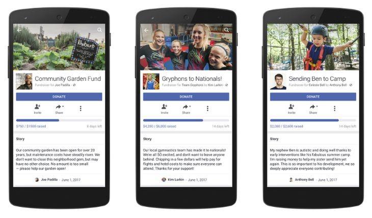 La función de recaudación de fondos personales de Facebook sale de su etapa beta