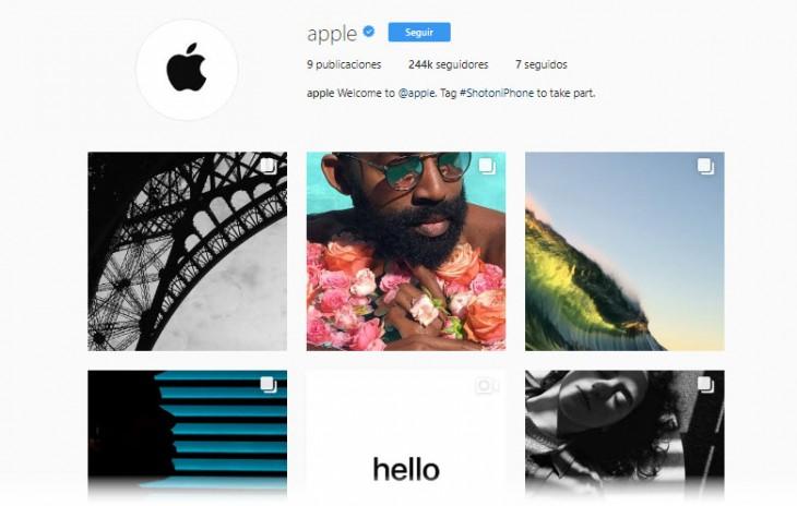 apple cuenta instagram mostrar fotografías tomadas iphone