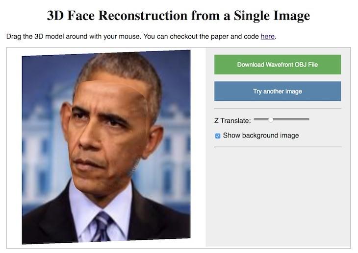 Este sitio web produce un modelo en 3D de nuestra cara a partir de una foto
