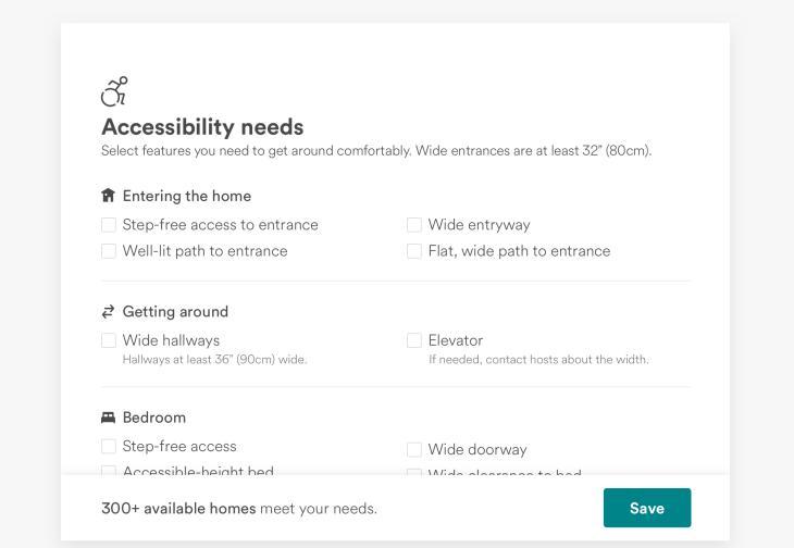 Airbnb añade filtros de accesibilidad a las búsquedas de alojamientos