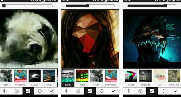 Una app android que imita errores para crear arte en fotos