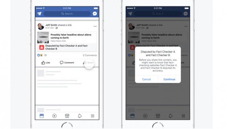 Facebook cambia de estrategia para combatir las noticias falsas