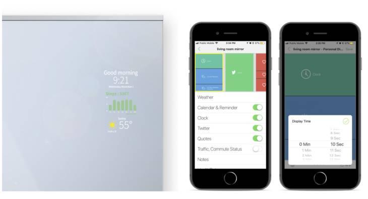 Mango Mirror, un espejo inteligente que muestra información personalizada con sólo acercarse