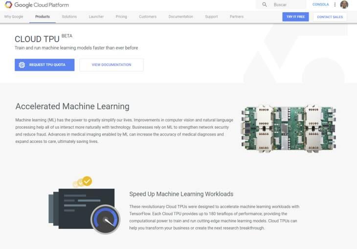 Google pone en beta pública su servicio de hardware en la nube para acelerar modelos de I.A.