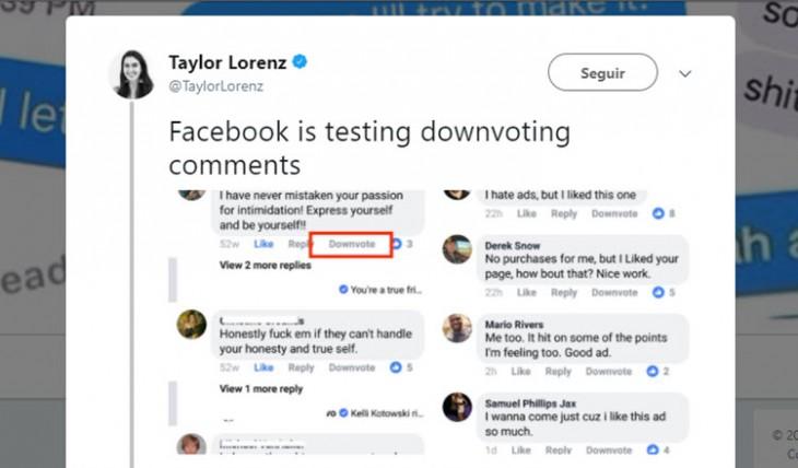 Facebook está probando un nuevo botón para moderar comentarios