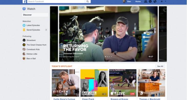 facebook suma nueva sección noticias watch
