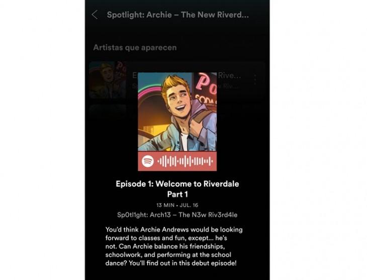 spotify estrena serie cómics animados archie