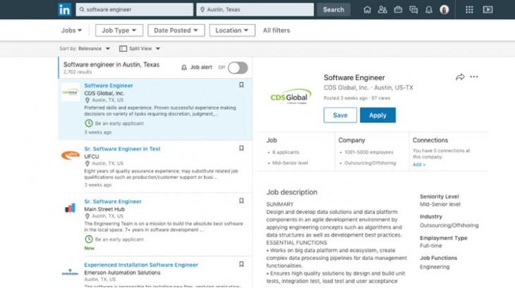 LinkedIn añade nuevas opciones para la búsqueda de empleo