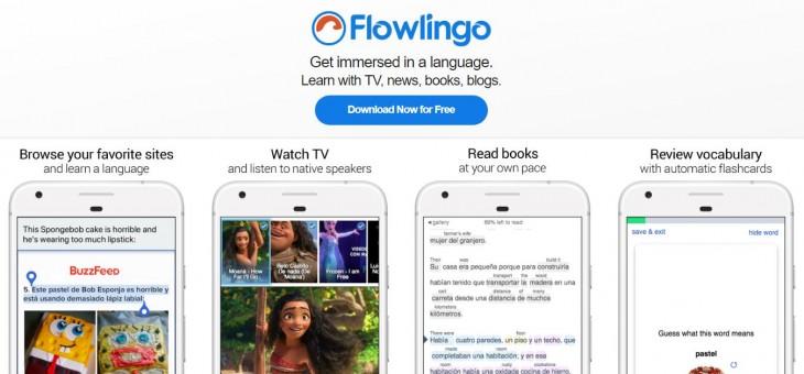 Flowlingo, para aprender idiomas leyendo y viendo vídeos