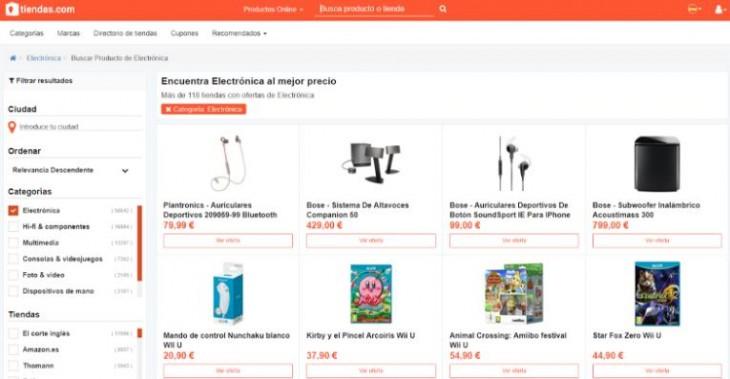 Para comparar precios de productos de electrónica por Internet