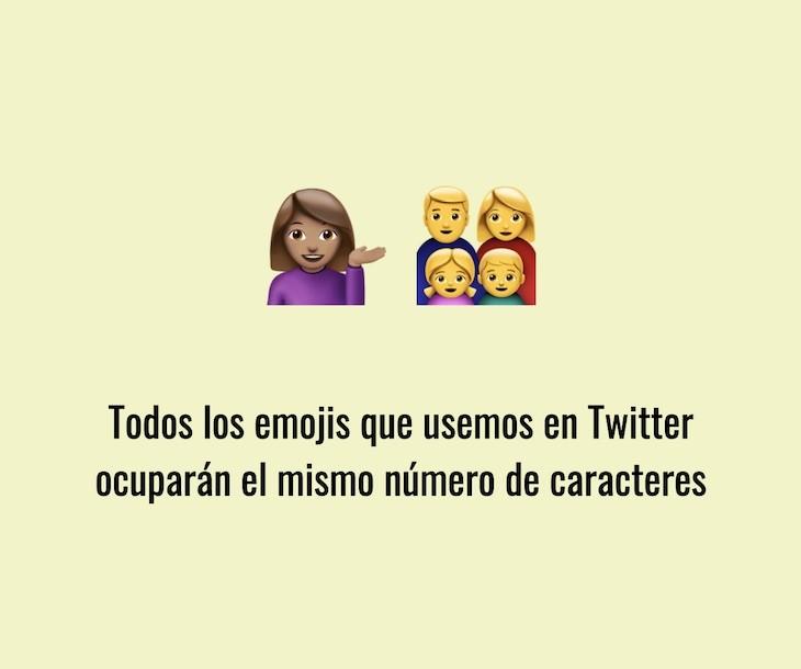 Todos los emojis que usemos en Twitter ocuparán el mismo número de caracteres