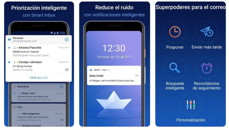 spark llega android uno mejores clientes email