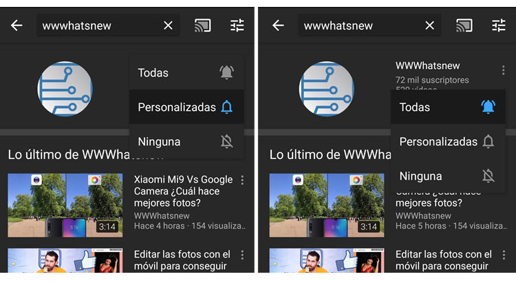 YouTube anuncia cambios en el sistema de notificaciones
