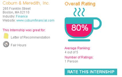 Evaluación en InternshipRatings