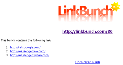Enlaces en Linkbunch