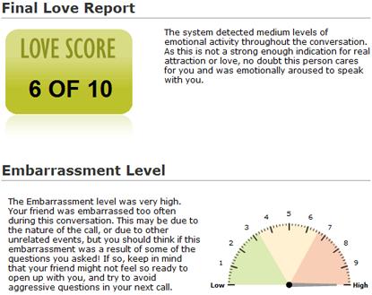 Análisis en LoveDetect