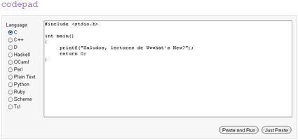 Codepad – Prueba tu código online
