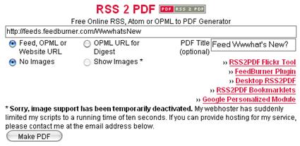 RSS2PDF