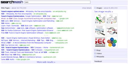 Versión HTML de searchmash