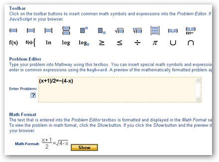 MathWay – Resolver problemas matemáticos en Internet