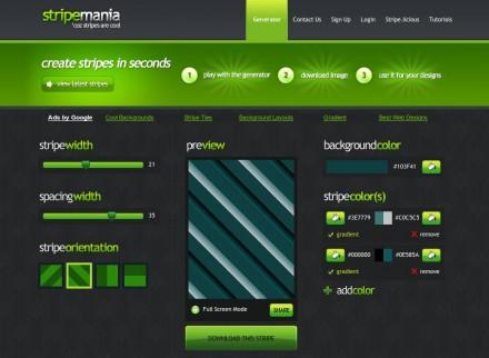 Stripemania - Striped background generator